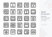 Vector  Icons. Editable Stroke. 48x48 Pixel Perfect