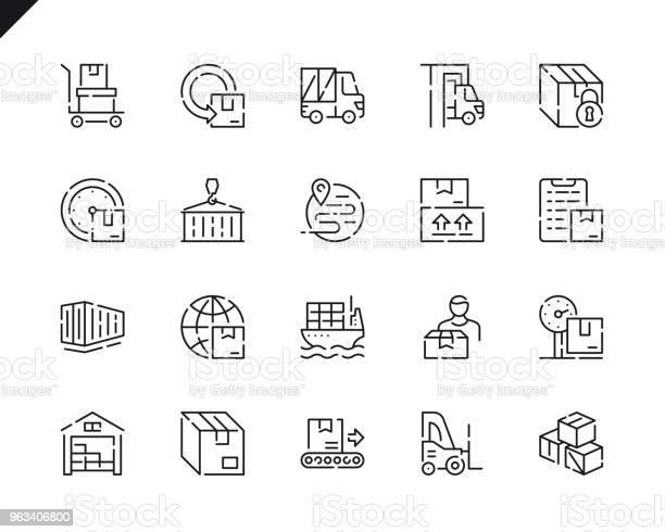 Proste Ikony Linii Dostarczania Pakietów Dla Witryny I Aplikacji Mobilnych - Stockowe grafiki wektorowe i więcej obrazów Symbol
