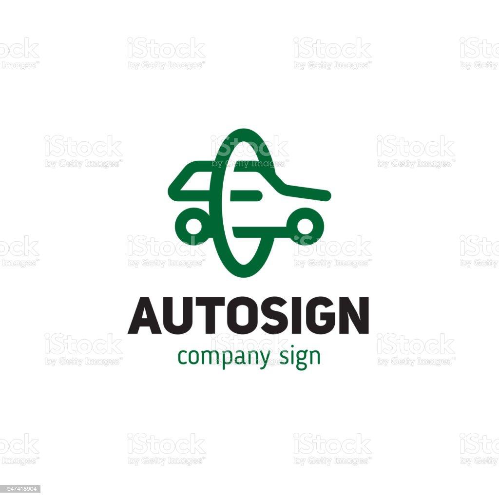 Einfaches Zeichen Auto Silhouette Stil Strichzeichnungen Stock ...