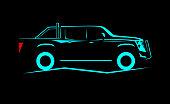 simple silhouette contour large SUV