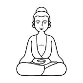 Simple sitting Buddha statue