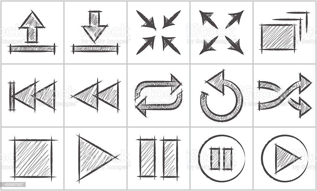 Einfache Skizze Symbole, Teil 5 – Vektorgrafik