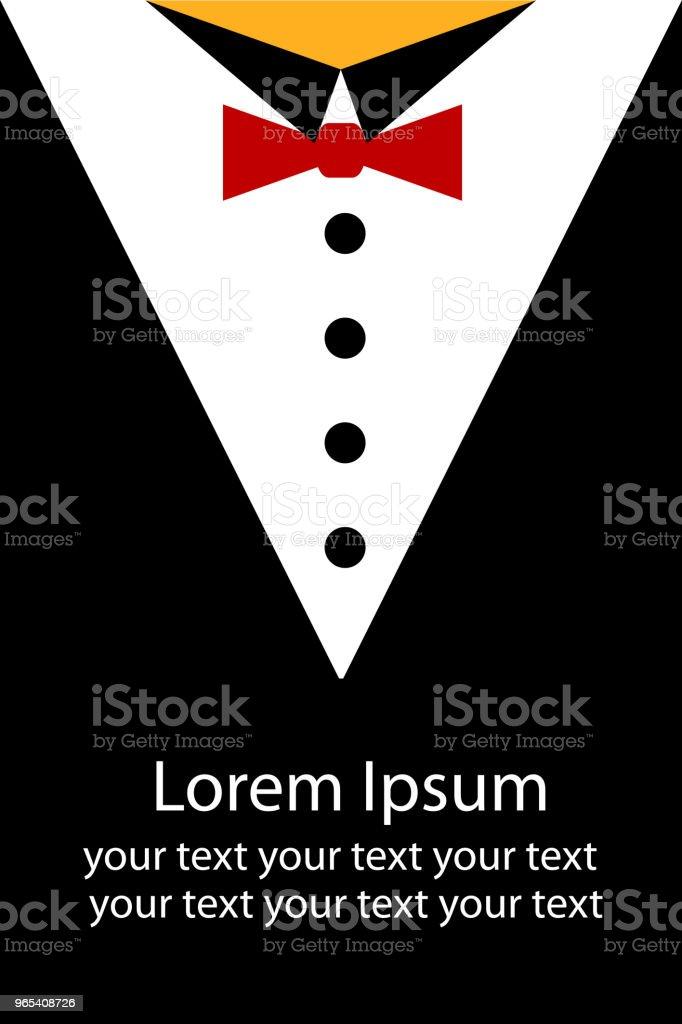 Simple esquisse d'homme d'affaires à l'aide de Tuxedo - clipart vectoriel de Adulte libre de droits