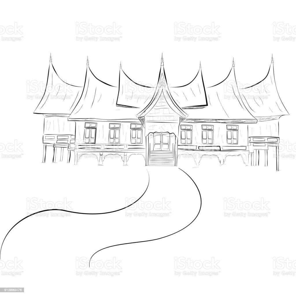83 Gambar Rumah Gadang Vector Gratis