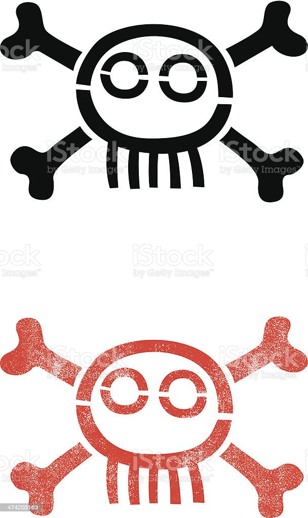 Simple skull symbol royalty-free stock vector art