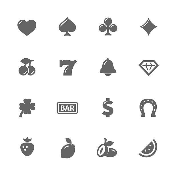 Machine à sous icônes simples - Illustration vectorielle