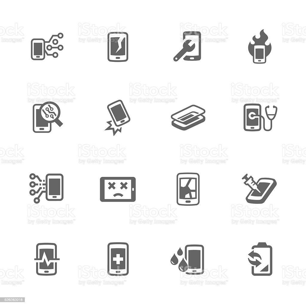 Simple Smart Phone Repair Icons