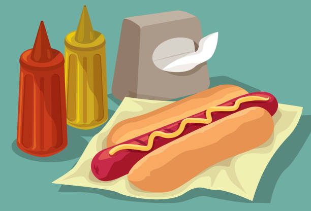 Simple Snack vector art illustration