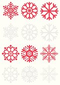 Simple snowflake icons in a scandinavian style.