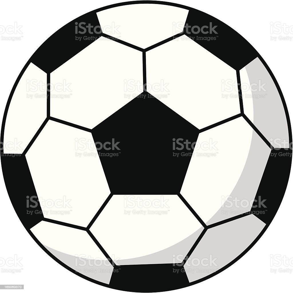 simple soccer football in black white stock vector art more images rh istockphoto com vector football images vector football images