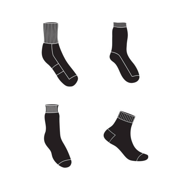 simple socks icon set vector art illustration