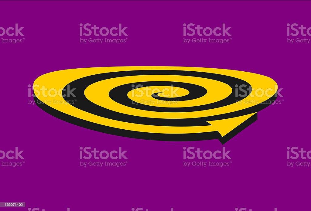 Simple Spiral Element vector art illustration