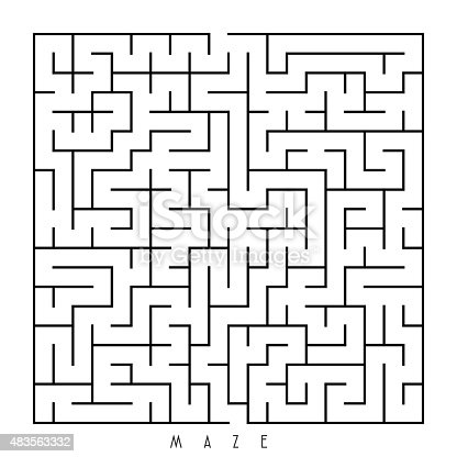 Simple Square Labyrinth Stock Vector Art & More Images of ... Simple Square Maze