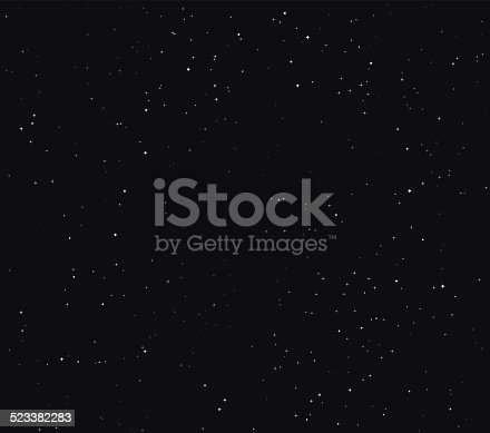 istock Simple Stars Space Stock Vector Background 523382283