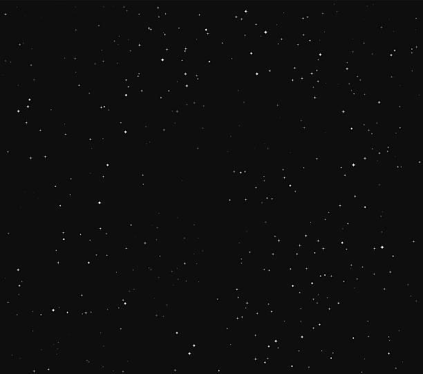 Einfache Sterne Space Stock-Vektor-Hintergrund – Vektorgrafik