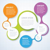 Minimal infographic step by step vector presentation template.