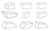 simple stone set vector symbol icon design