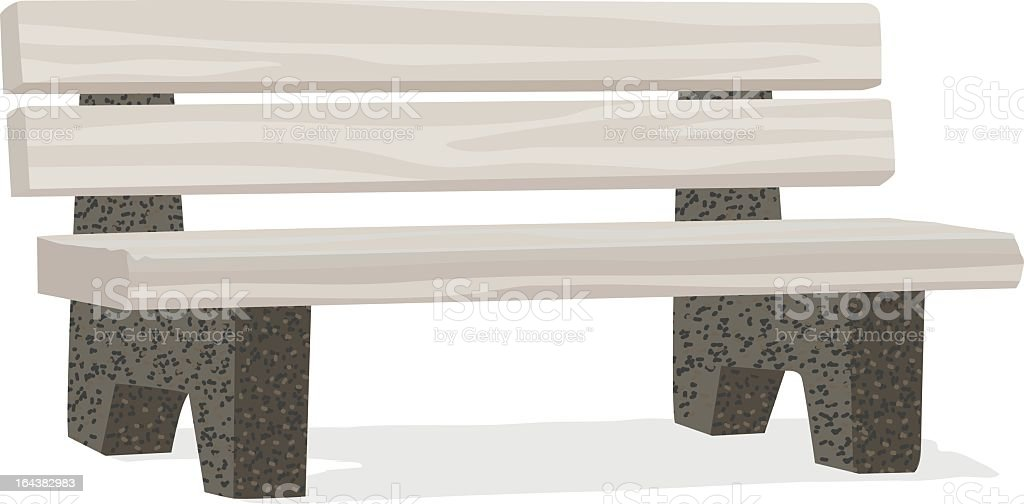 Simple Stone & Wood Bench royalty-free stock vector art
