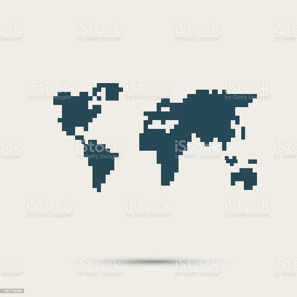Simple style pixel icon continents vector design stock vector art simple style pixel icon continents vector design royalty free simple style pixel icon continents gumiabroncs Images