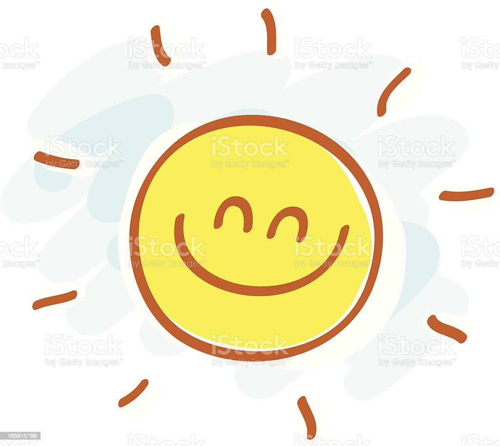 simple sun cartoon illustration royalty-free simple sun cartoon illustration stock vector art & more images of cartoon