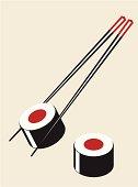Simple sushi illustration