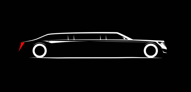 simple symbol corporate limousine vector art illustration
