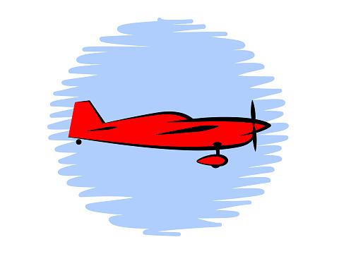 simple symbol sports plane flies