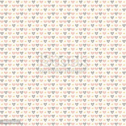 istock Simple symbols of the heart. seamless pattern 462518037