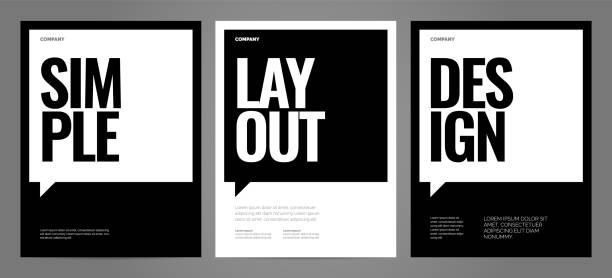 poster için tipografi ile basit şablon tasarımı. - poster stock illustrations