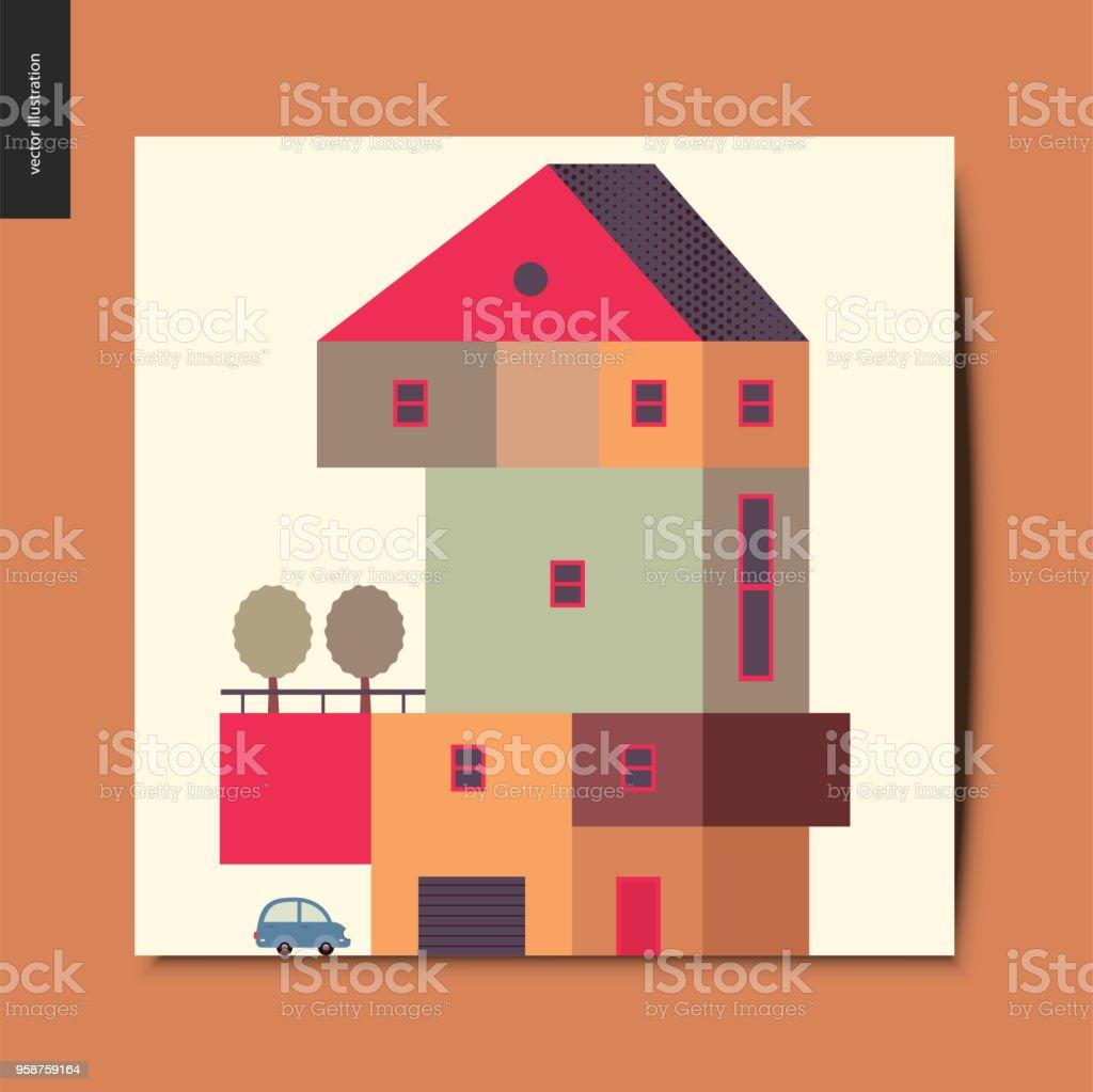 Einfache Dinge Haus Stock Vektor Art und mehr Bilder von Architektur ...