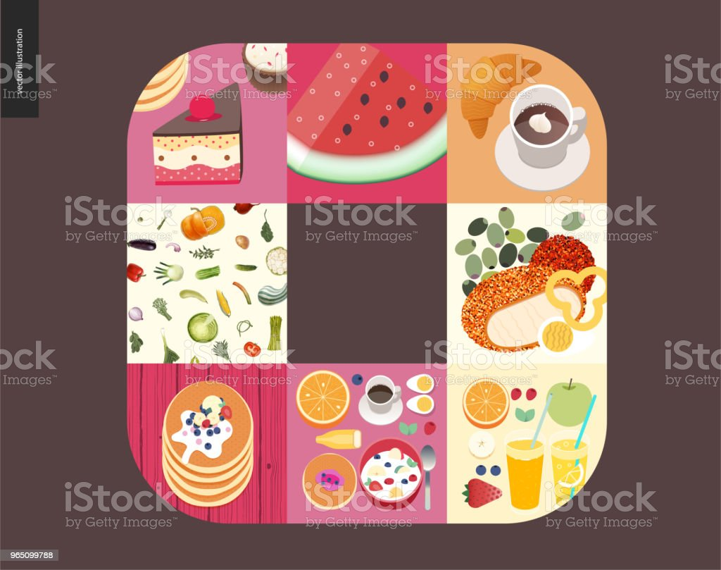 Simple things - meal royalty-free simple things meal stock vector art & more images of apple - fruit