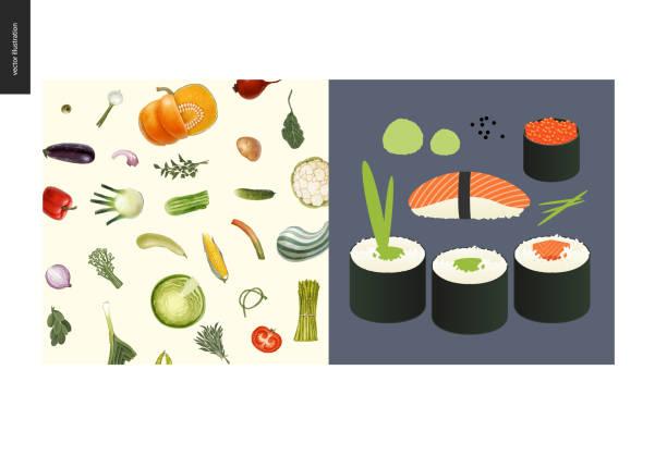 シンプルなもの - 食事 - わさび点のイラスト素材/クリップアート素材/マンガ素材/アイコン素材