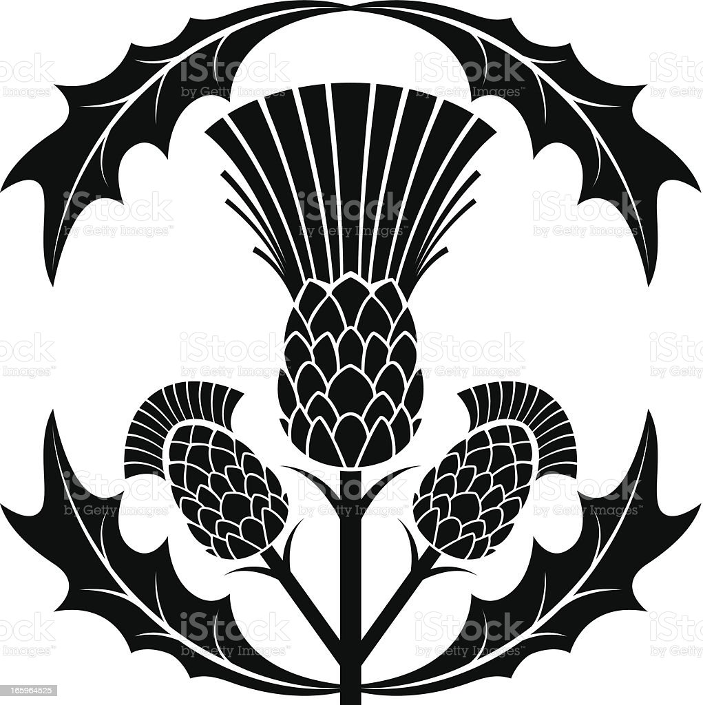 Simple Thistle Silhouette Vector Illustration