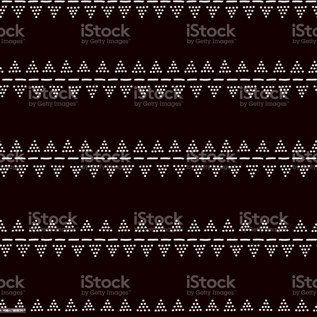 Simple traditional african mudcloth fabric, doted triangles seamless pattern, vector royalty-free simple traditional african mudcloth fabric doted triangles seamless pattern vector stock vector art & more images of abstract