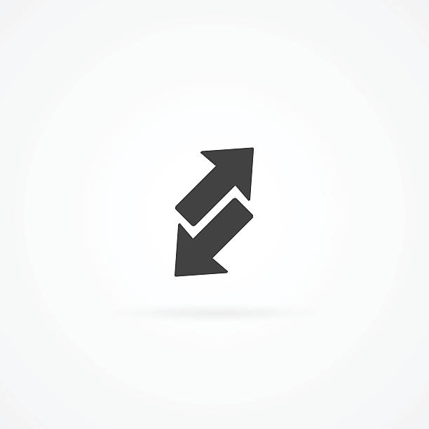 Simple transfer icon with shadow. vector art illustration