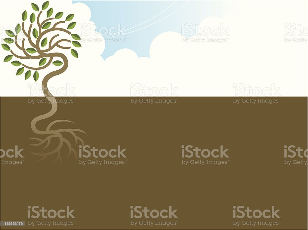 Simple tree and roots. royalty-free stock vector art