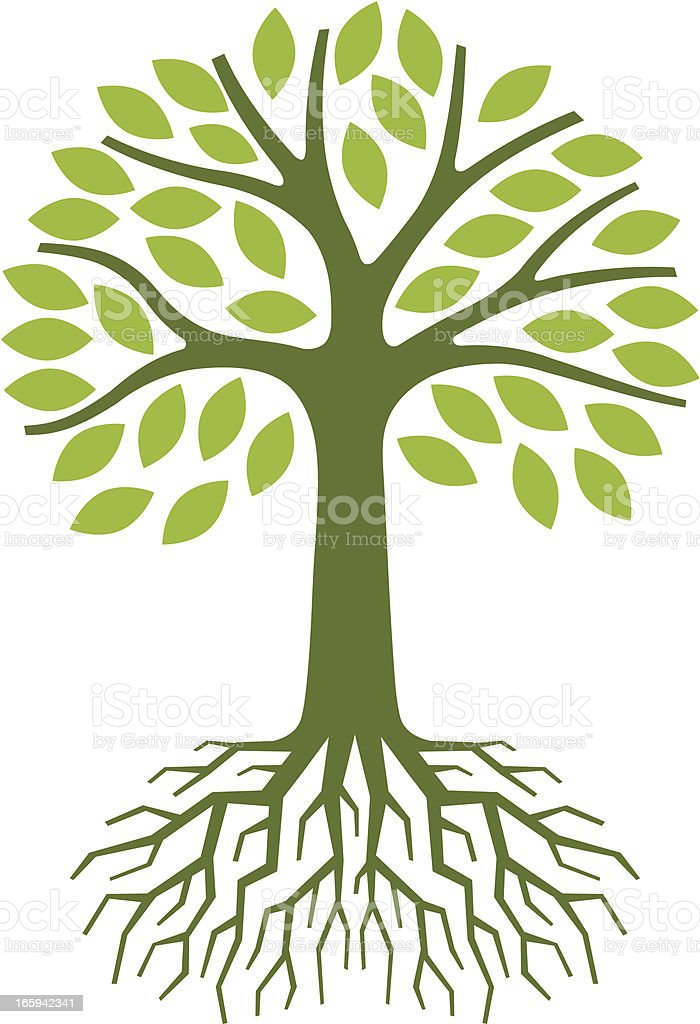 Simple tree illustration vector art illustration