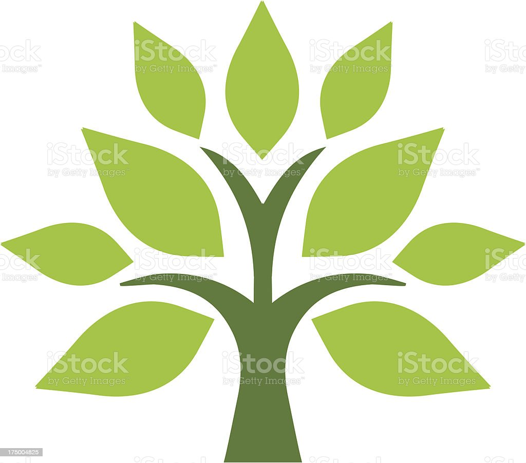 Simple tree vector art illustration