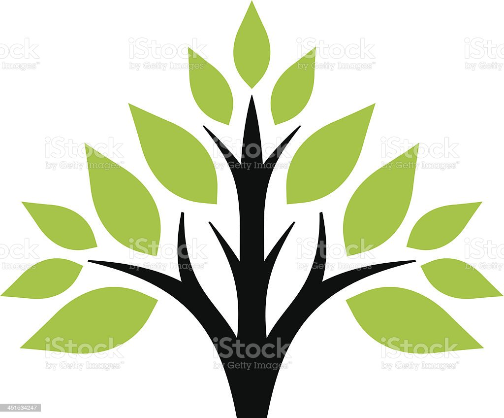 Simple tree royalty-free stock vector art