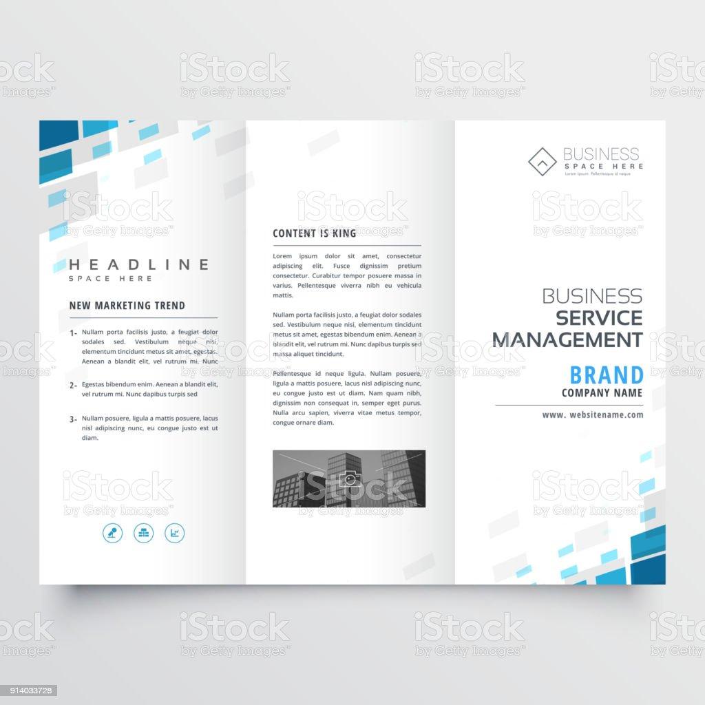 Simple Trifold Business Brochure Template Design Stock Vector Art