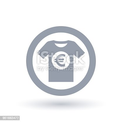 Simple Tshirt Euro Icon Mens Tee Shirt European Money Symbol Stock