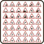 Simple UK Road Signs: Cautionary Series