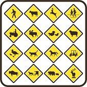 Simple U.S. Crossing Signs