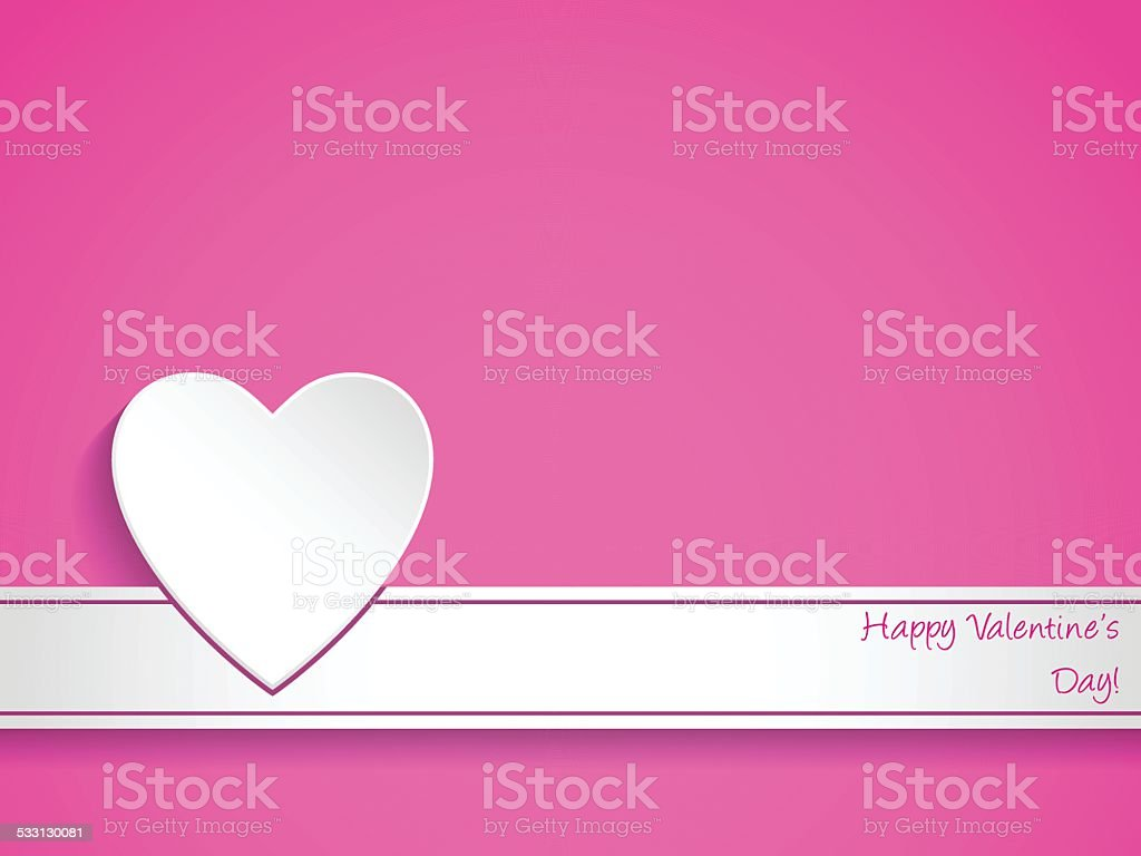 Simple Valentines Day Greeting Card Stock Vector Art More Images