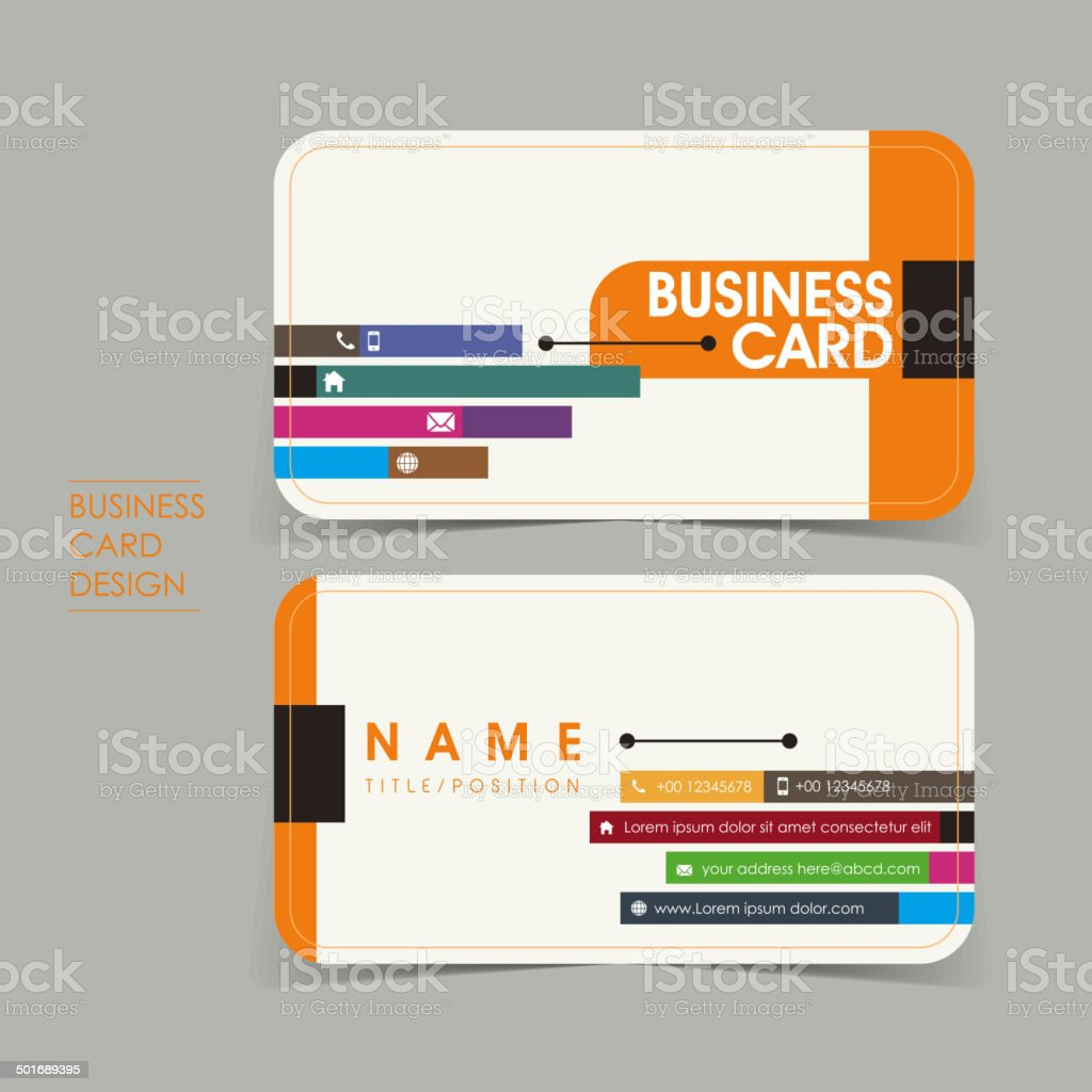 simple vector business card set template vector art illustration