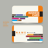 simple vector business card set template
