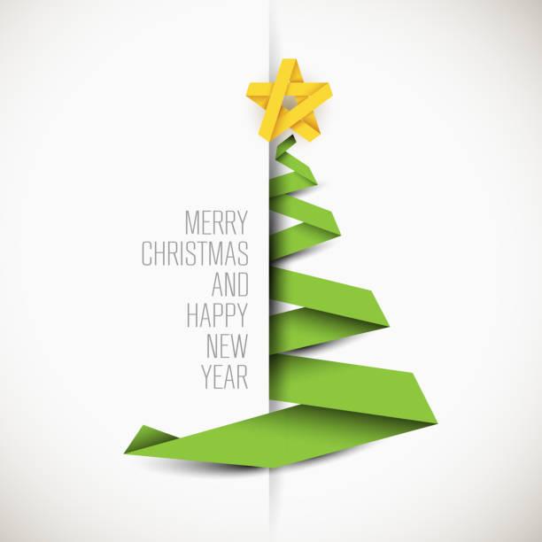 bildbanksillustrationer, clip art samt tecknat material och ikoner med enkla vektor kort med julgran - christmas tree