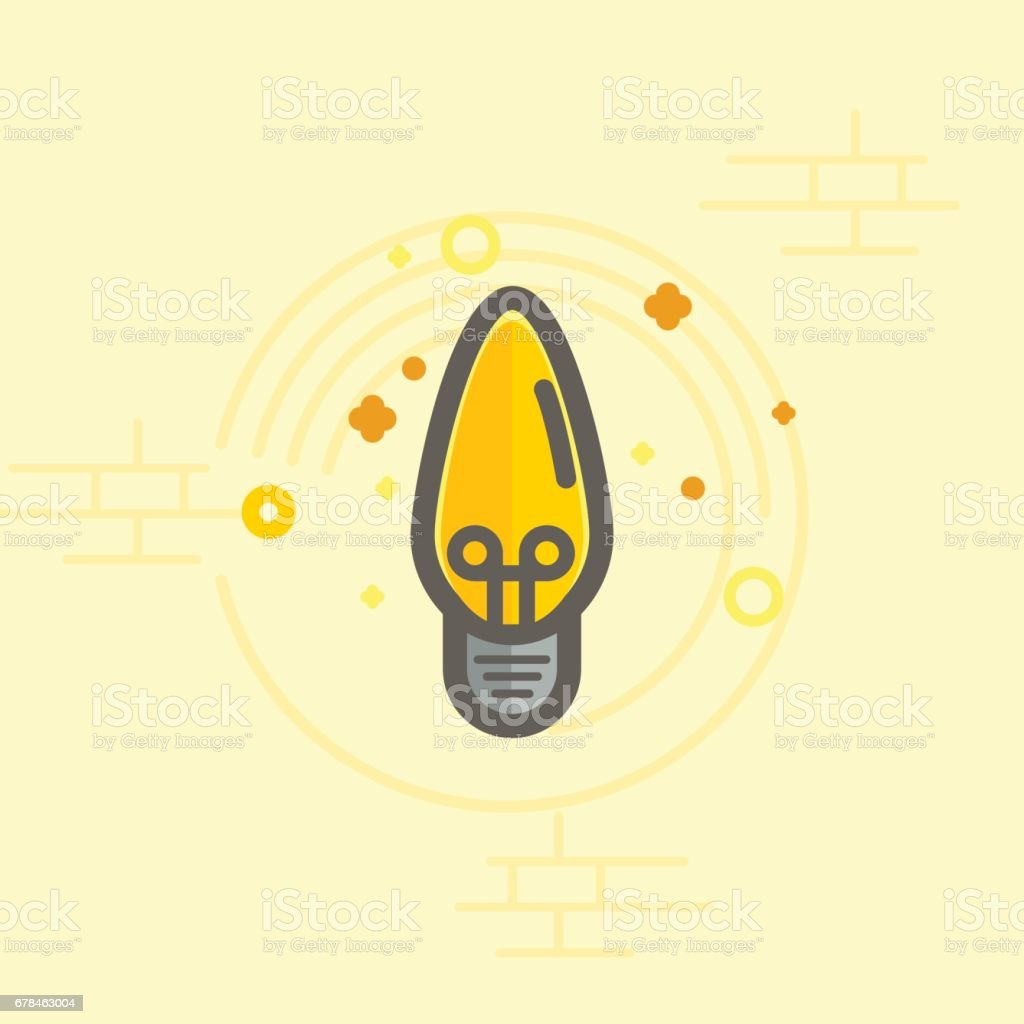Simple vector color icon of a bulb. Traditional ellipse form. royalty-free simple vector color icon of a bulb traditional ellipse form stock vector art & more images of bright