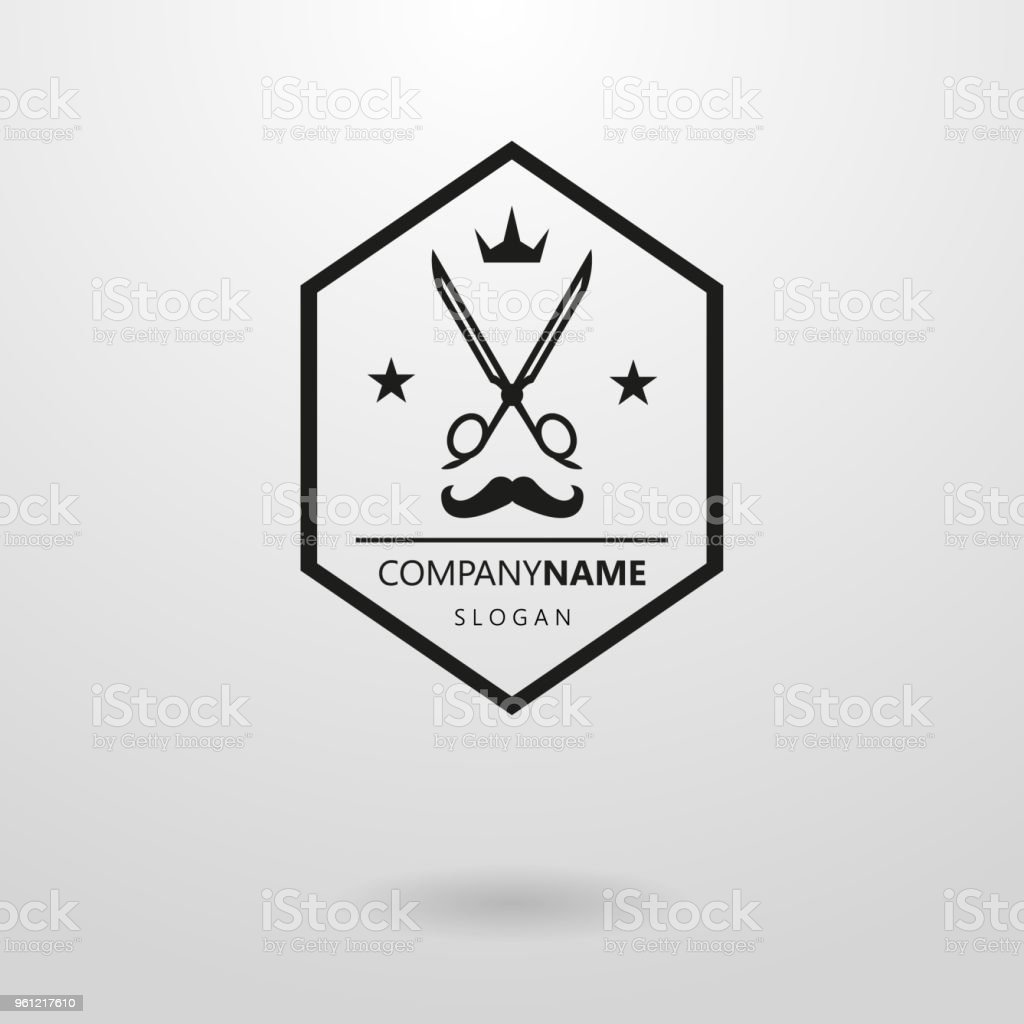 Simple Vector Icon For Hairdressers In A Hexagon Frame Stock Vector ...
