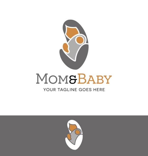 ilustrações, clipart, desenhos animados e ícones de ilustração de vetor simples ícone da mãe e do bebê - novo bebê
